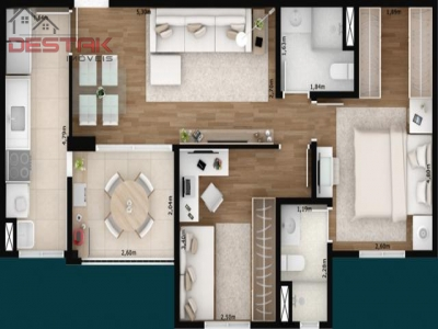 Apartamento / de 2 dormitórios à venda em Jardim Ana Maria, Jundiai - SP
